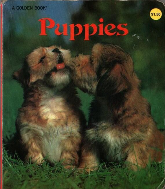 Puppies a Golden Book - 1982 - Vintage Kids Book
