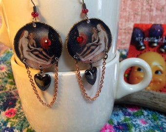 Hieronymus Bosch Earrings Garden of Earthly Delights Heaven and Hell old master painter