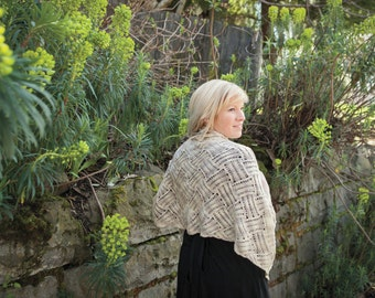 Take Cahuenga Shawl - Pattern PDF - Lightweight wrap for summer, layering, elegant events