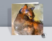 Burmese Cat Card - Elli - Greetings Card