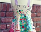 Girls Top, Ribbon Top, Apron Top, Corset Top, 4T girls, 5T girls, toddler top, ruffle top, pink top, balloon top, photo prop, peplum top