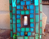 Key West Mosaic ART light switch cover Beautiful colors
