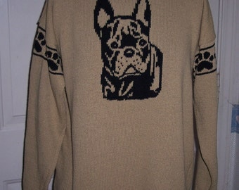 Custom Knit French Bulldog Sweater ****Create your own sweater see below*****