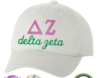 Delta Zeta hat, Delta Zeta sorority hat, Delta Zeta, DZ, DZ Hat, DZ baseball hat, Delta Zeta Cap, Dee Zee Hat, sorority gift, Sorority Hat