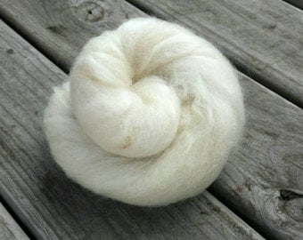 CLEARANCE Ghost Batt - Undyed Natural Fibers Carded and Blended into a Spinning Batt - Spin and Dye Yourself or Spin and Enjoy! GB1