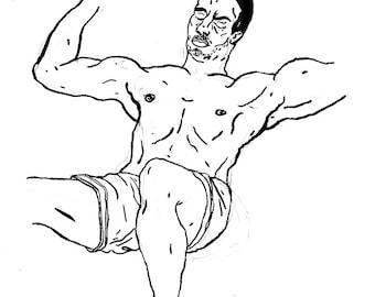 Original Drawing - Male 07
