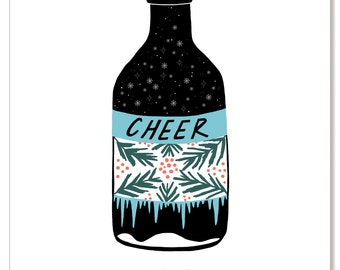 Holiday Card - Bottled Cheer