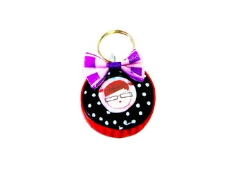 Handmade Key Chain , Colorful Key Chain, Polymer Key Chain Accessories ,Bag Accessories,  Gift idea , For her,