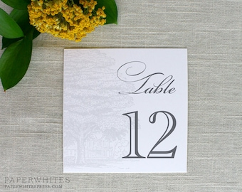 Wedding Table Numbers, Oak Tree Table Numbers, Southern Plantation Table Numbers, Printed Table Numbers, Tree Table Cards, Reception Table