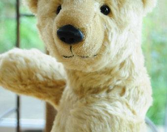 Lenny - big blonde mohair artist teddy bear, 17 inches, by BigFeetBears