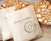 Cookie Favor Bag - Wedding, Shower, Party favors and take home bags - MMM - Kraft food service bag - 25 Bags