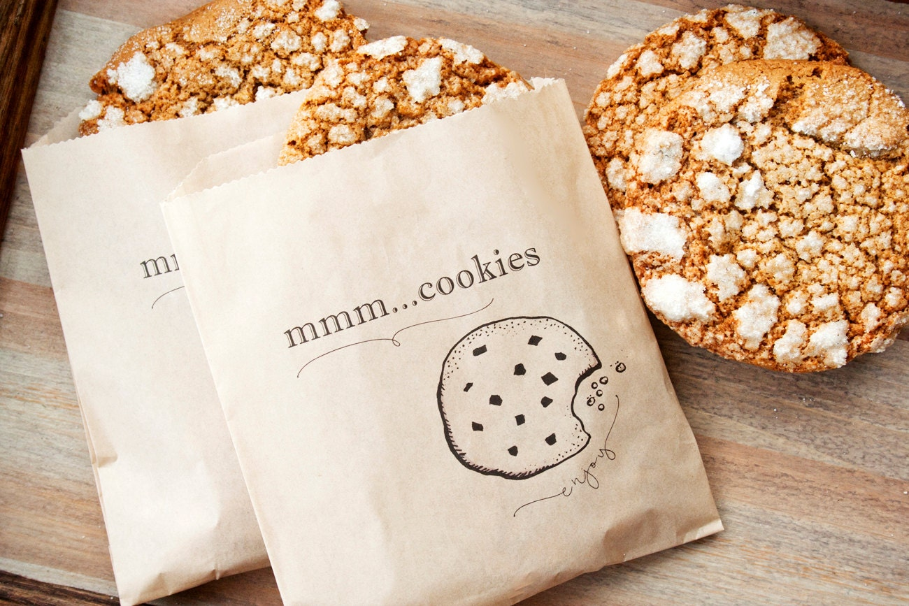 Wedding Favor Bags For Cookies : Cookie Favor Bag Wedding Shower Party favors and take home