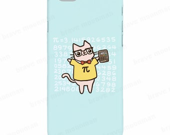 iPhone 7 Case Pi Cute Cat Math Nerd Gift Nerdy Phone Case Funny Samsung Galaxy S7 Case