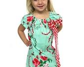 Girls Cherry Dress- Girls Red Cherry Dress- Girls Flower Dress