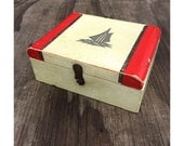 Vintage Nautical Box - Sailboat Box