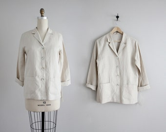 putty linen jacket | vintage linen jacket