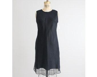 black silk dress / bias dress / short black dress
