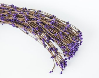 "10 Pip Berry ""Branches"" in Purple - Wedding Crowns, Head Wreaths, Flower Crown Supplies - ITEM 0368"