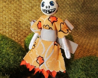Miniature Day of the Dead Doll