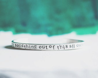 Personalized Cuff Bracelet with Names, Date or Quote  {Hand Stamped Sterling Silver}
