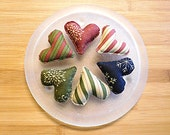 Country Christmas Hearts Bowl fillers Ornaments