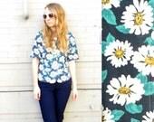 Daisy Crop Top // Summer 2k16 Wear // 1990's Fashion // Floral Blouse