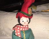 Vintage Christmas Felt Doll