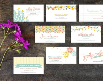 Mommy Calling Cards, Fun cards to share information, Personal Calling Cards, Information cards, Contact Cards, Set of 50 or 100 cards
