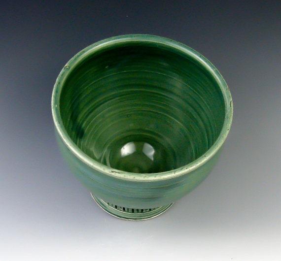 French Coffee Bowl in Teal Green, Latte Mug, Café au Lait Bowl - Handmade Ceramics