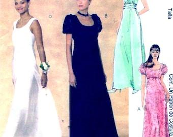 Evening wear dress Brides Bridesmaid Party Wedding Evening Elegance sewing pattern Uncut McCalls 3954 Sz 4 to 10