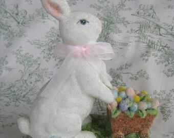 Easter Bunny with Basket Figurine