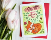 Doing a Great job New Mom Card - New Mother's Day card Sweet Mothers Day Card for New Mom Card from baby Mother's day gift Cute Fox Mom Card