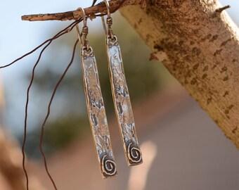 Artisan Earrings, Live in Balance, Life in Balance, Harmony, Inspirational Jewelry
