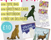 SUPER DOOPER gift pack! Includes: 1 Tote Bag, 1 Notebook, 1 Greetings Card, plus free UK delivery!