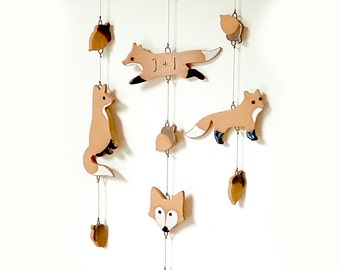 Ceramic Fox Wind Chime, Personalized Wedding Gift, MADE TO ORDER