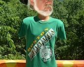 vintage 80s t-shirt boston CELTICS nba basketball tee Large Medium green
