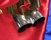 Child size Super Hero Girls Wonder Woman Tiara and Cuff Bracers Accessory Set Kids Costume Cosplay