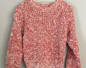 80s Kids Red and White Pullover Sweater Size 2t 3t