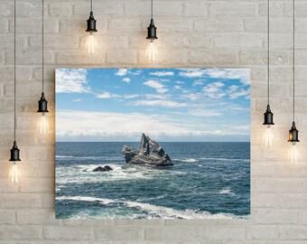 Ocean Photography, Beach Decor, Coast Art Print, California Photography, California Art, Pacific Ocean, Beach Art, Minimalist Art Print