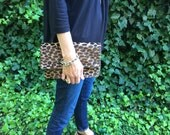 Clutch purse, clutch bag, Leopard Clutch, Cheetah Clutch, Animal Print Clutch, Oversized Pouch, Envelope Clutch, Christmas Gift