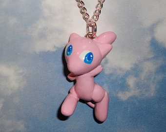 Pokemon - Mew Charm Necklace - Handmade PKMN Fanart