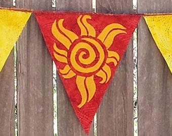 Summer Solstice Litha Element of Fire Flag Garland Tribal Hippie Boho