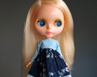 cornflower dress for blythe