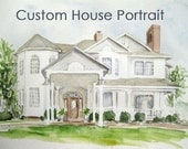 Custom House Portrait -  Watercolor Painting - Housewarming - Home Sweet Home - Personalized Gift for Parents/ Grandparents