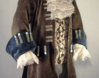 Pirate Jacket Cosplay Halloween Costume Wedding Groom Best Man Historical