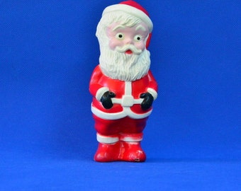 Vintage Irwin Santa Claus Rubber Christmas Squeeze Toy - Holiday Christmas Decor