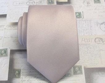 Mens Ties. Quartz Rose Gold Dusty Pink Blush Neckties. Quartz Inspired Wedding Ties. Groomsmens Ties With Matching Pocket Square Option