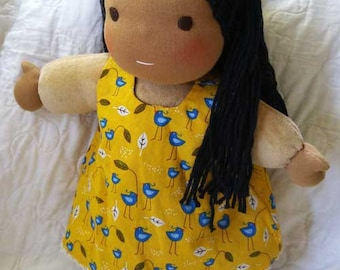 Ila, Waldorf inspired Toddler Doll , All Natural Materials