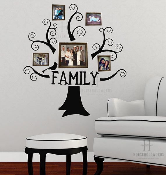 Family tree memory vinyl wall decal decor family by for 13x13 living room decorating ideas