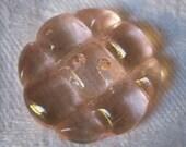 VINTAGE Light Pink Glass Sew Thru BUTTON